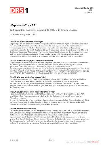 «Espresso»-Trick 77