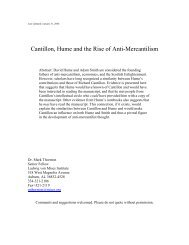 Cantillon, Hume and the Rise of Anti-Mercantilism - Ludwig von ...