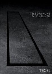 TECE DRAINLINE DUSCHRINNEN - Architektur - Tece