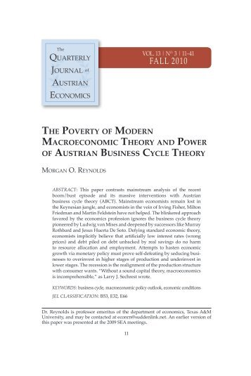 THE POVERTy OF MODERN MACROECONOMIC THEORy AND ...