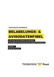 Belabelungsfibel & Avisodatenfibel - Österreichische Post AG