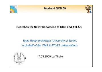 CMS , ATLAS - Rencontres de Moriond