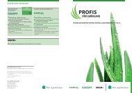 prOFis Fürs grünland Wirkungsspektrum grünlandherbizide 2012