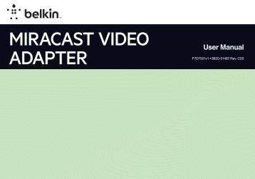 MIRACAST VIDEO ADAPTER - Belkin