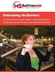 Overcoming the Barriers - Multiple Sclerosis Society of Canada