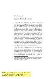 Hamsuns koloniale nonsens - Munin