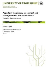 Aspects of the primary assessment and management of anal ... - Munin