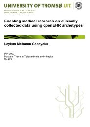 Enabling medical research on clinically collected data using ... - Munin