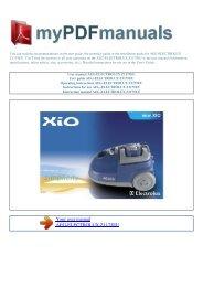 User manual AEG-ELECTROLUX Z1175EU - MY PDF MANUALS