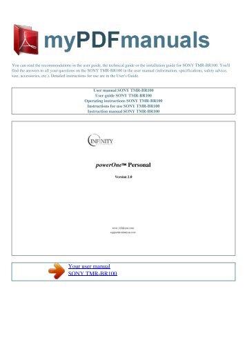sony manuals pdf