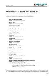 Rabattverträge für Liprolog und Liprolog Mix - Berlin-Chemie AG