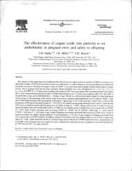 The effectiveness of copper oxide wire particles as an anthelmintic ...