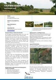 TAUFWIESENBERGE - NABU-Stiftung Nationales Naturerbe