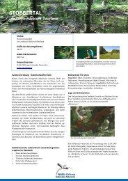 STOBBERTAL - NABU-Stiftung Nationales Naturerbe