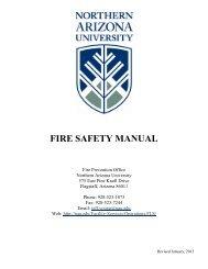 FIRE SAFETY MANUAL - Northern Arizona University