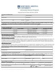 Honors Guidelines for Independently Arranged Courses of Study