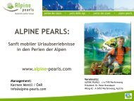 Die Aufgaben von Alpine Pearls - Naturparke