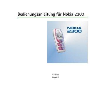 Bedienungsanleitung für Nokia 2300