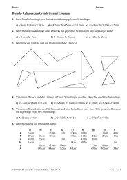 Dreieck - Aufgaben zum Grundwissen mit Lösungen