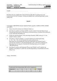 Probeaufgaben mit Lösungen (WTR)