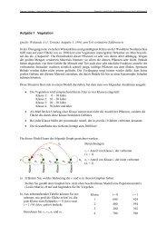 Vegetation (lk) - Aufgabe mit Lösung