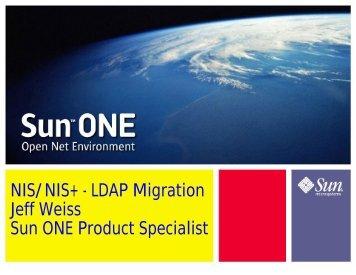 Native LDAP on Solaris: Migrating from NIS to LDAP - Educause