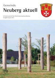 NEUBERG aktuell, Ausgabe 08/2013 - Gemeinde Neuberg