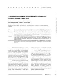 Axillary Recurrence Rate in Breast Cancer Patients with Negative ...