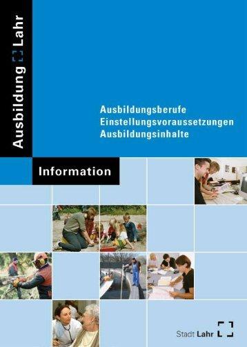 Ausbildungsbroschüre - Stadt Lahr