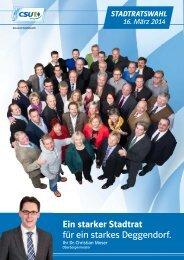 Der Kandidatenflyer für die Stadtratswahl 2014 (2.47 MB) - CSU