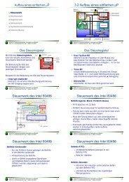 3.2 Aufbau eines einfachen µP Steuerwerk des ... - next-internet.com