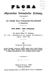 Flora oder Allgemeine botanische Zeitung.
