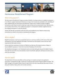 Homeowner Resettlement Program