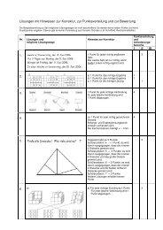 Lösungen mit Hinweisen zur Korrektur, zur Punkteverteilung und zur ...