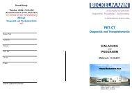 PET-CT Diagnostik und Therapiekontrolle - Dr. Wolf, Beckelmann ...