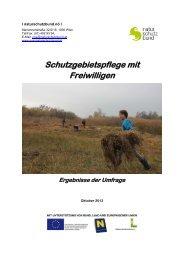 Schutzgebietspflege mit Freiwilligen - Naturschutzbund NÖ