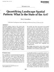 , Quantifying Landscape Spatial ' P'attern: What Is the State of the Art?