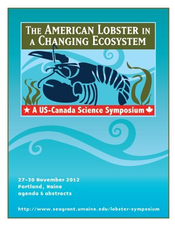 27-30 November 2012 Portland, Maine agenda & abstracts