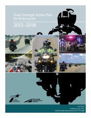Texas Strategic Action Plan for Motorcycles - National ...