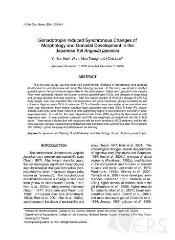 Gonadotropin Induced Synchronous Changes of Morphology and ...