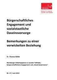 Bürgerschaftliches Engagement und ... - Stadt Nürnberg