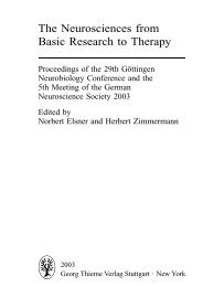 The Neurosciences from Basic Research to Therapy - MDC
