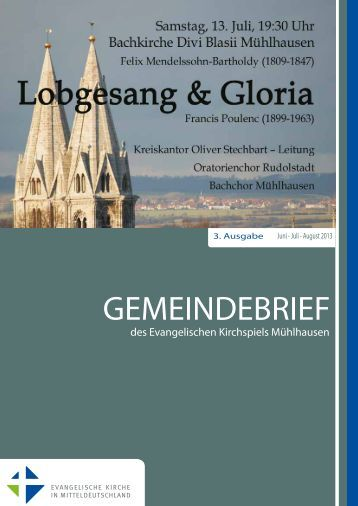 GEMEINDEBRIEF - Evangelischer Kirchenkreis Mühlhausen