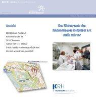 Infoflyer Förderverein KRH Klinikum Nordstadt - Klinikum Region ...