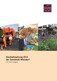 Haushaltsplan 2014 - Wilnsdorf