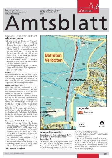 Amtsblatt der Stadt Nürnberg - Ausgabe 19/2013 (18.09.2013)