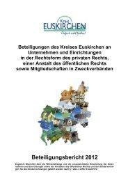 Beteiligungsbericht 2012 - Kreis Euskirchen