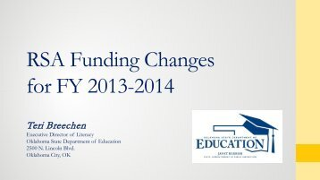 RSA Funding Changes - State of Oklahoma