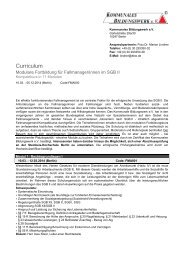Curriculum - Kommunales Bildungswerk e.V.