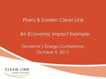 Michael Skelly - Clean Line Energy Partners - State of Oklahoma ...